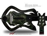 5ht-2a Decal Style Skin - fits Warriors Of Rock Guitar Hero Guitar (GUITAR NOT INCLUDED)